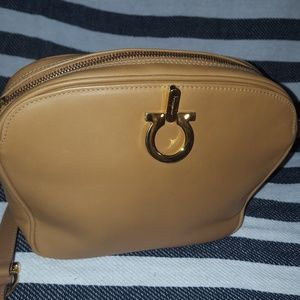 Tan Salvatore Ferragamo purse